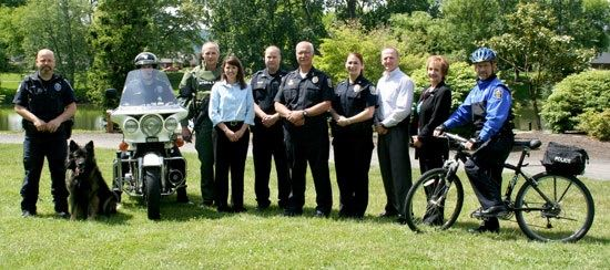 Longview Police Department officers and staff members pose together