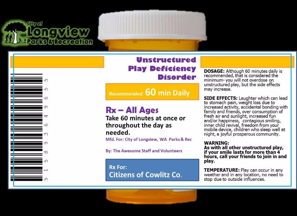 Prescription for unstructured play deficiency disorder